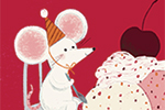 Claire Shorrock Illustration - claire, shorrock, licensing, illustration, handdrawn, card, card design, digital, text, sundae, ice-cream, happy birthday, mouse, mice, cute, sweet