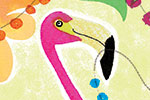 Jo Rooks Illustration - jo, rooks, watercolour, paint, photoshop, digital, painterly, graphic, colourful, tropical, trend, greetings card, birthday, happy, flamingo, flowers, jungle, beads, lights, bright, party