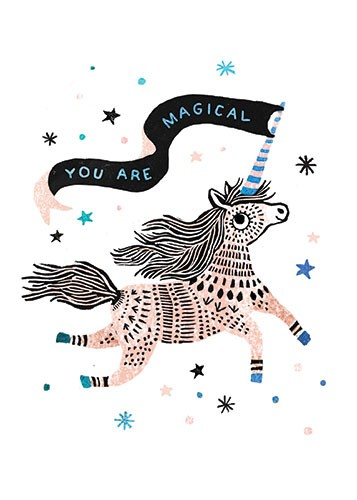 Erin Balzer Illustration - erin, balzer, erin balzer, licensing,  wood printing, wood cutting, printing, licensing, card, pattern, decorative, unicorn, animal, colour, colourful, sparkles, fantasy, magic, magical, snowflakes, swirls