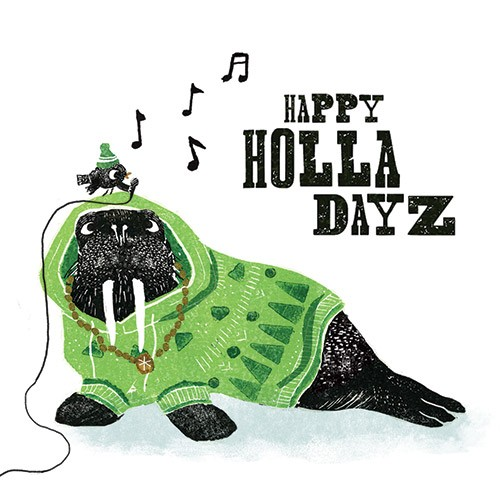 Erin Balzer Illustration - erin, balzer, erin balzer, licensing, wood printing, wood cutting, printing, licensing, card, pattern, decorative, walrus, robin, bird, animals, colour, colourful, jumper, hoodie, funny, silly, singing, music, microphone, hats, wooly,