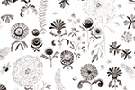 Melissa Shultz-Jones Illustration - melissa, shultz-jones, repeat pattern, surface pattern design, gift wrap, wrapping paper, b&w, black and white, flowers, floral, wall paper