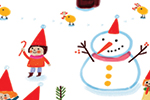 Valeria Valenza Illustration - valeria valenza, valeria, valenza, licensing, greetings cards, cards, digital, colourful, quirky, festive, winter, seasonal, christmas, santa, father christmas, santa's workshop, toys, elves, fairy, fairies, elf, cute, fantasy, woodland, woods, outdoors,